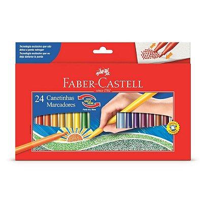 Canetinhas - Ponta Vai e Vem - 24 Cores - Faber Castell