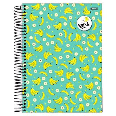Caderno Wish - Bananas - 10 Matérias - Jandaia