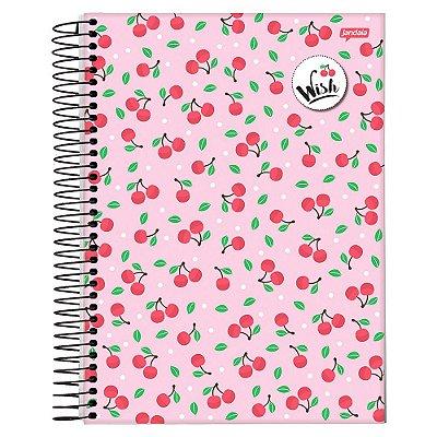 Caderno Wish - Cerejinhas - 10 Matérias - Jandaia
