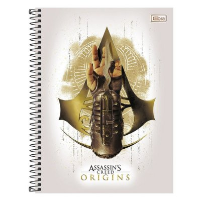 Caderno Assassins Creed Origins - Hidden Blade - 10 Matérias - Tilibra
