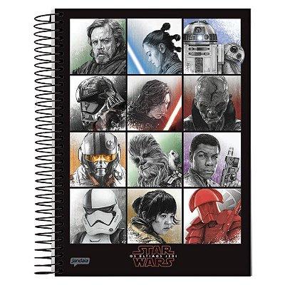 Caderno Star Wars Os Últimos Jedi - Personagens - 10 Matérias - Jandaia