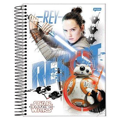 Caderno Star Wars Os Últimos Jedi - Rey e BB8 - 10 Matérias - Jandaia