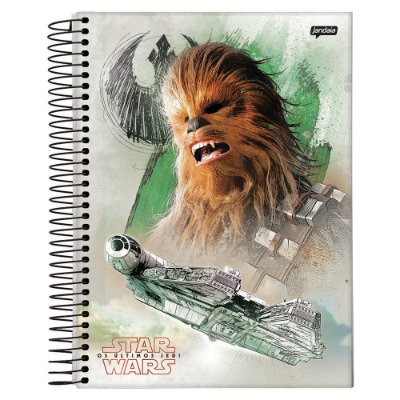 Caderno Star Wars Os Últimos Jedi - Chewbacca - 10 Matérias - Jandaia