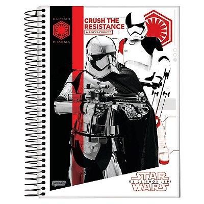 Caderno Star Wars Os Últimos Jedi - Captain Phasma - 10 Matérias - Jandaia