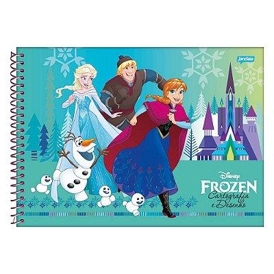 Caderno de Cartografia e Desenho - Frozen Classic - 96 Folhas - Jandaia