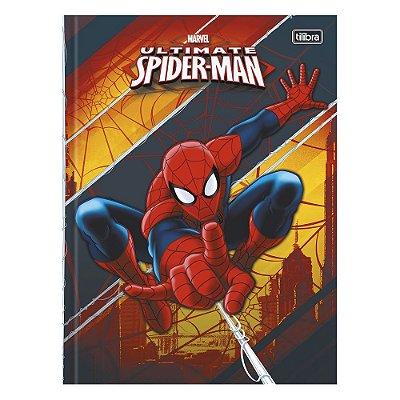 Caderno Brochura Ultimate Spider Man - Laranja - 96 Folhas - Tilibra