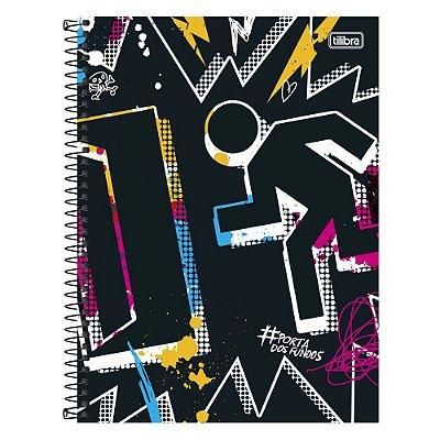 Caderno Porta dos Fundos - Hashtag - 1 matéria - Tilibra