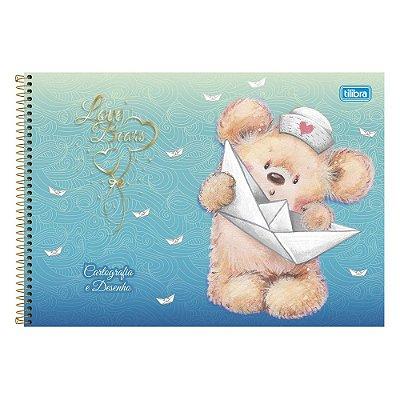 Caderno de Cartografia e Desenho - Ursinho Azul - 96 Folhas - Tilibra