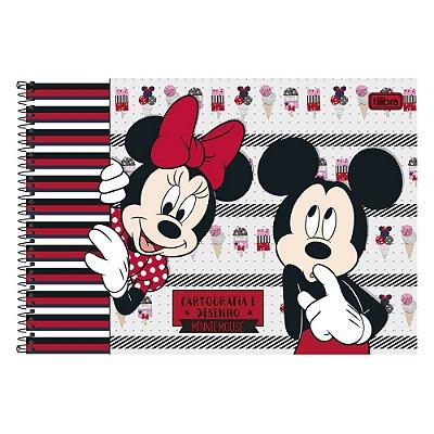 Caderno de Desenho - Minnie e Mickey  - 96 Folhas - Tilibra