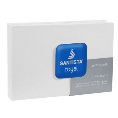 Lençol de Solteiro Royal Liso - Branco - Santista