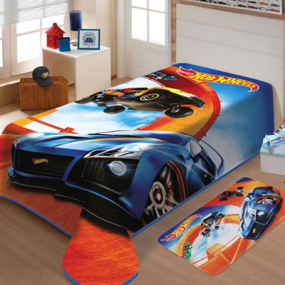 Cobertor Infantil Raschel - Hot Wheels - Jolitex
