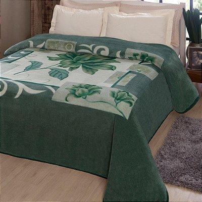 Cobertor Casal Microfibra Kyör Raschel - Malbec Verde - Jolitex