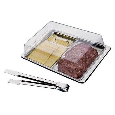 Porta Frios em Aço Inox - 3 Peças - Euro Home