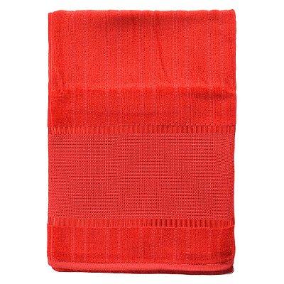 Toalha de Banho Velour Para Bordar - Bella - Vermelha - Döhler