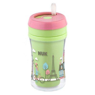 Copo Infantil Fun Cup - Paris - Verde e Rosa - NUK