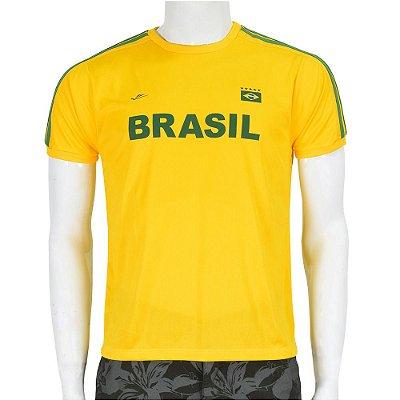 Camiseta Masculina Brasil Dryline - Negrito - Elite
