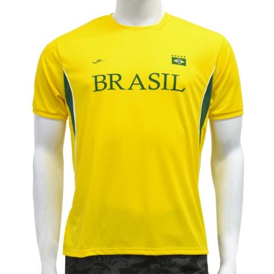 Camiseta Masculina Brasil Dryline - Detalhada - Elite