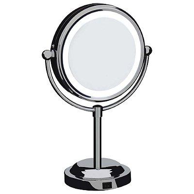 Espelho de Aumento Dupla Face Com Iluminação - Mor