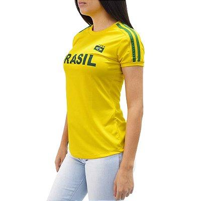 Camiseta Feminina Brasil - Negrito - Elite