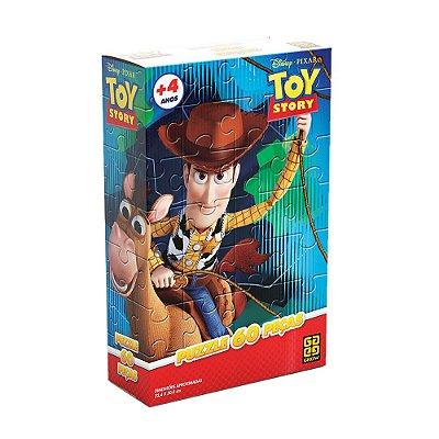 Quebra-Cabeça Toy Story Woody e Bala no Alvo - 60 Peças - Grow