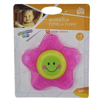 Mordedor Estrela Funny - Rosa - Girotondo Baby