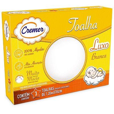 Toalha Luxo Branca - 3 unidades - Cremer