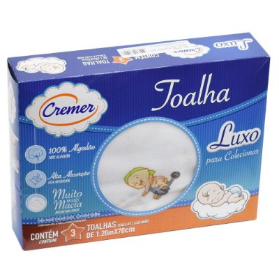 Toalha Luxo Estampada - 3 unidades - Cremer