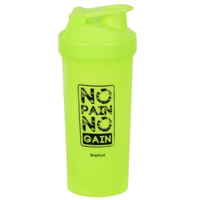 Coqueteleira No Pain No Gain Verde - 600ml - Brasfoot