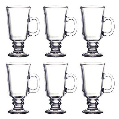Jogo de Canecas para Irish Coffee 6 peças - 285ml - Dynasty