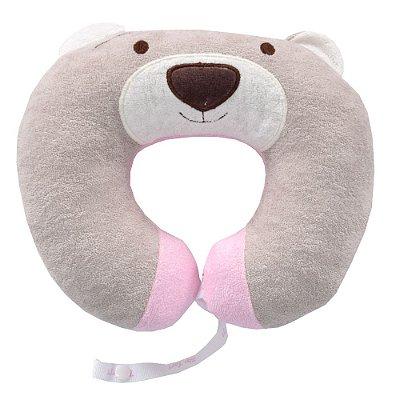 Protetor de Pescoço Ursinho Nino Rosa - Zip Toys
