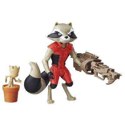 Boneco Rocket Raccoon - Guardiões da Galáxia - 8cm - Hasbro