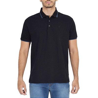 Camisa Polo Básica Preta - Ellus
