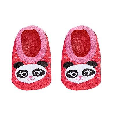 Meia Baby Antiderrapante Panda - Lupo