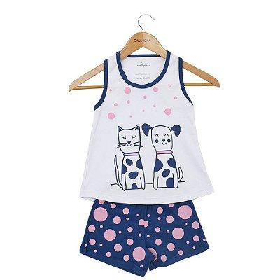 Pijama Infantil Cachorro e Gatinho - Dedeca