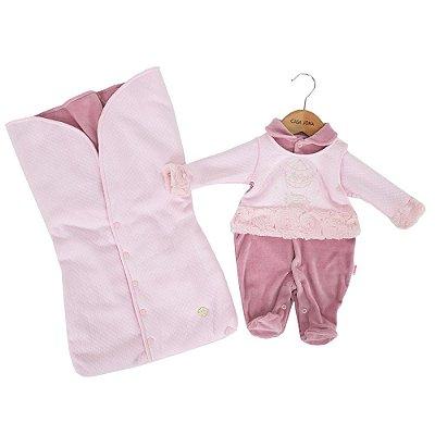 Kit Saída da Maternidade Sweet Girl - Rosa - Paraíso