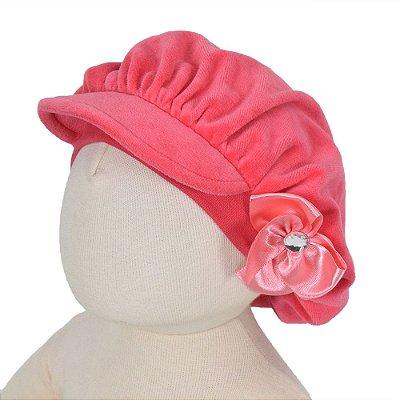 Boina Infantil Com Laço - Carmine Pink - Paraíso