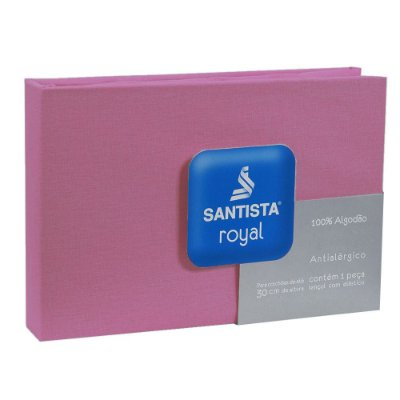 Lençol de Solteiro Royal Liso - Pink - Santista