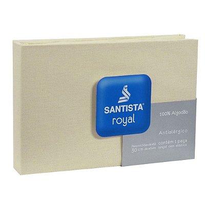 Lençol de Solteiro Royal Liso - Bege - Santista