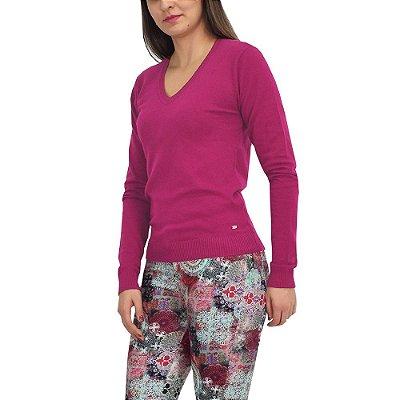 Suéter Feminino em Tricô - Pink - Malwee