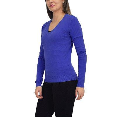 Suéter Feminino em Tricô -  Azul - Malwee