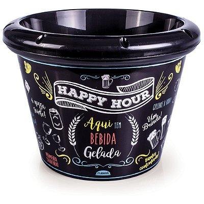 Balde Para Cerveja Happy Hour - Plasútil