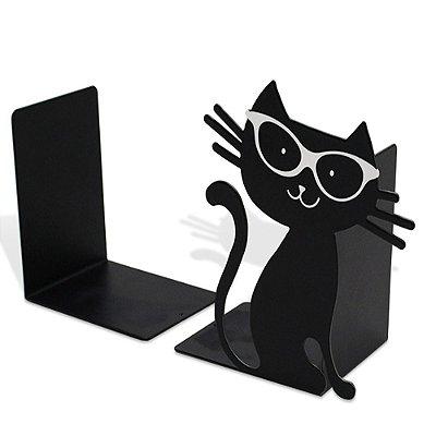 Aparador de Livros - 2 Peças - Gato Preto - Geguton
