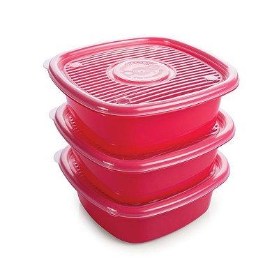 Conjunto de Potes Pop Colors 1L - 3 Peças - Plasútil