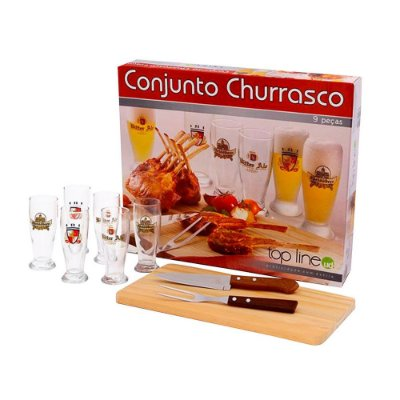 Conjunto para Churrasco - 9 Peças - Top Line