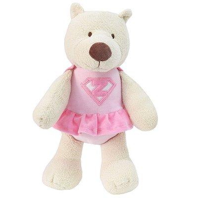 Blanket Super Ursinha - Bege e Rosa - Zip Toys