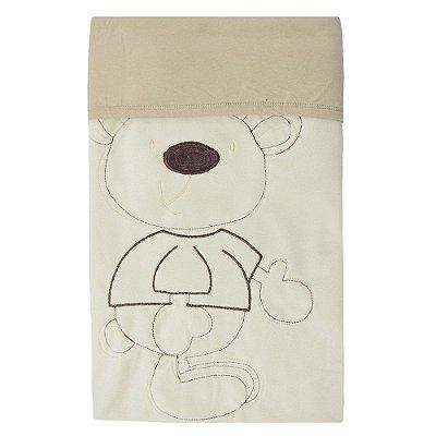 Manta Soft Dupla Face - Ursinho Bege - Zip Toys