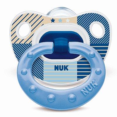 Chupeta Classic Azul Listrada - Fase 2 - Nuk