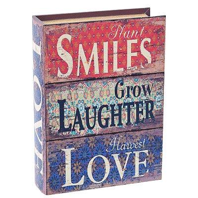 Livro Caixa Decorativa Grande - Plant Smiles - Mart
