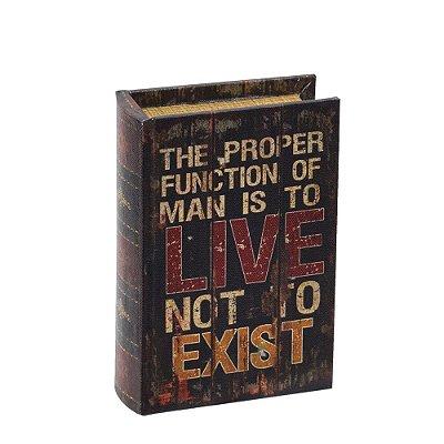 Livro Caixa Decorativa Pequena - Live Not To Exist - Mart