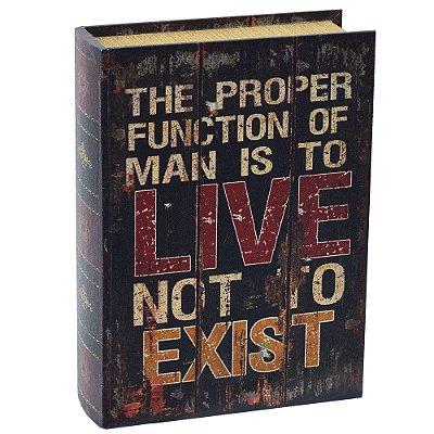 Livro Caixa Decorativa Grande - Live Not To Exist - Mart